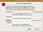 Account Registration Dialog